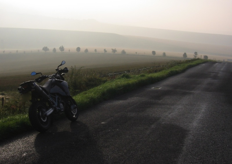 KTM 950 Supermoto on Marlborough Downs