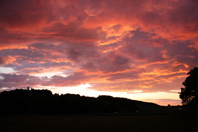 Sunset over West Wycombe, June 2011