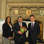 Ralph Gonsalves visits the SV2G display in Parliament