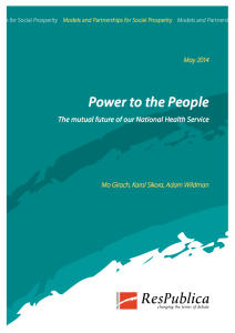 The mutual future of our National Health Service