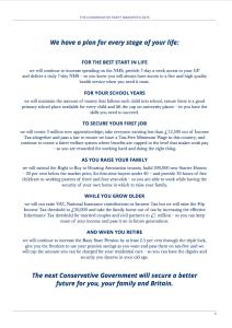 Conservative Manifesto Summary