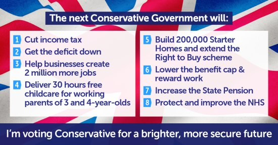 Voting Conservative commitments