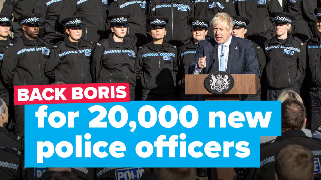 Back Boris for 20,000 new police officers