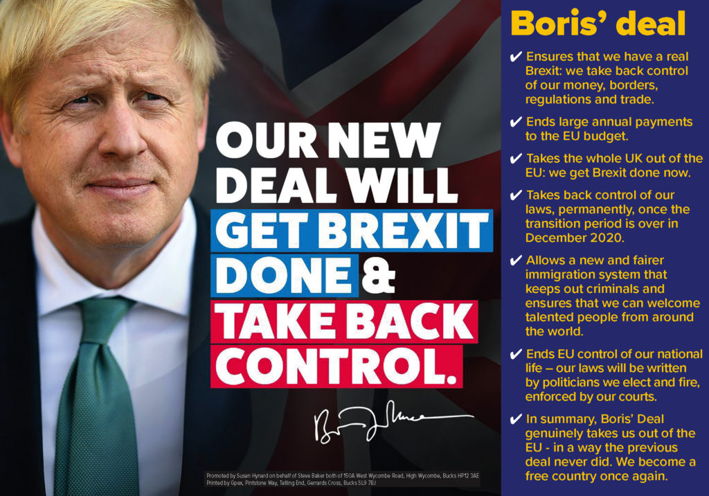 Our new deal will get Brexit done and take back control