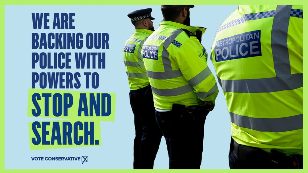 We are backing our police with powers to stop and search