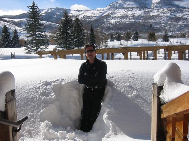Steve in deep snow, Utah